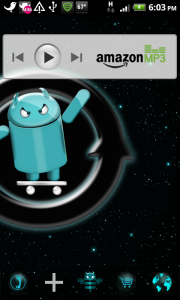 Amazon MP3 with Cloud Player Home Screen Widget