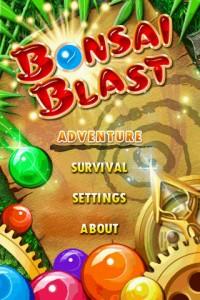 Bonsai Blast Welcome Screen
