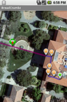 BreadCrumbz Maps Satellite View