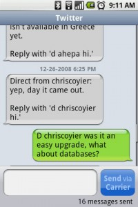 chompSMS Text Conversations