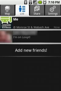 Loopt Friends List