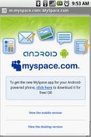MySpace Mobile Promo Webpage