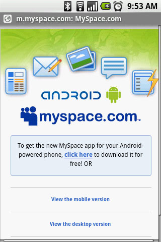 MySpace Mobile: Super Popular Android App, Super Sad Results