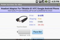 Pocket Auction for eBay Item Detail