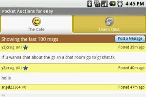 Pocket Auction for eBay Chat