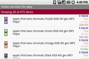 Pocket Auction for eBay Deals