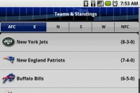 Pro Football Live - Standings