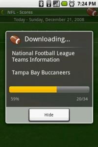 Scoreboard Downloading Scores