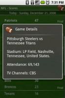 Scoreboard Game Details