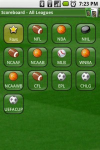 Scoreboard Home Screen