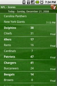 Scoreboard NFL Scores