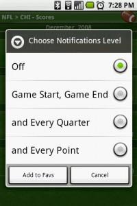 Scoreboard Notification Levels