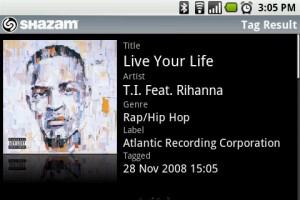 Shazam Song Tagged