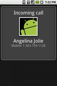 SpoofApp Spoof Call (Note: this is NOT Angelina Jolie's number, just some random number we came up with)