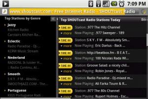 StreamFurious Integration with Shoutcast website