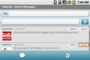 Twidroid Direct Replies