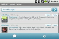 Twidroid Twitter Search