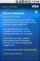 Visa Mobile Offers Detail - Planet Hollywood Offer