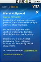 Visa Mobile Offers Detail - Planet Hollywood Offer