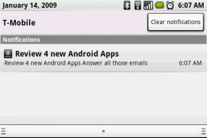 AK Notepad Notification in Android Window Shade