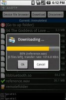 AndFTP Downloading