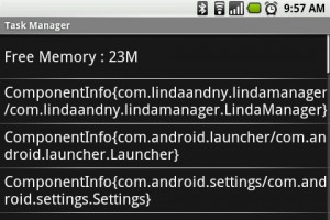 Linda File Manager - View Android Tasks Running in the Background