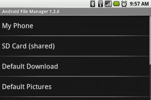 Linda File Manager - Home Screen