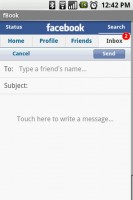fBook Inbox - Compose