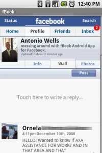 fBook Profile - Wall