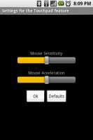 Gmote Settings. Set Mouse Sensitivity and Acceleration