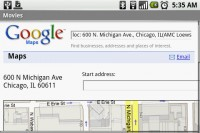 Movies and Showtimes on Google Maps webpage and not Google Maps Android App