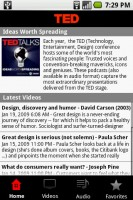 TED (Technology, Entertainment, Design) Talks Home Screen