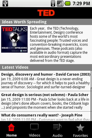 TED Talks for Android