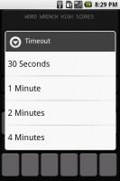 WordWrench Timeout Menu