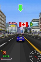 Snow Rally City Stage in Game Play Racing