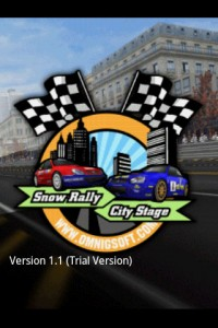 Snow Rally City Stage Start Screen