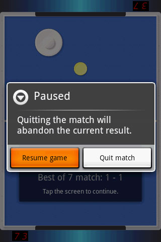 Air Hockey Pause Resume The Game Androidtapp