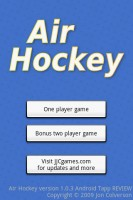 Air Hockey Start Screen Customized for Android Tapp ;-)