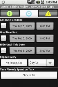 Astrid Edit Tasks Deadlines