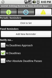 Astrid Edit Tasks Reminders