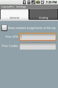 CoursePro General Settings