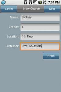 CoursePro New Course