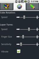 Gube The Rubik's Cube Rotation Settings