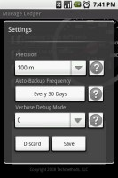 Mileage Ledger Settings