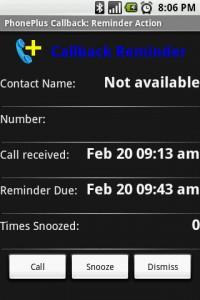 PhonePlus Callback Details