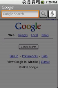 RC33 Google Voice Search for Android for Searching
