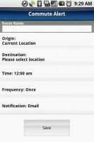 TeleNav GPS Navigator Create Commute Alert