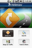 TeleNav GPS Navigator Home Screen