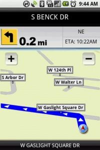 TeleNav GPS Navigator in Motion