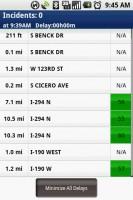 TeleNav GPS Navigator Traffic Summary